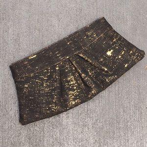 Lauren Merkin Pleated Cork Clutch Bag